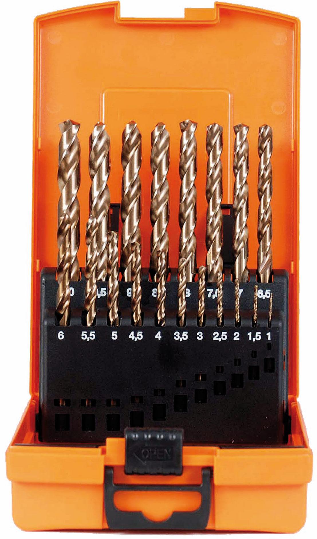 projahn spiralbohrer kassette hss co din 338 hss co din 338 eco 19 tlg. Black Bedroom Furniture Sets. Home Design Ideas