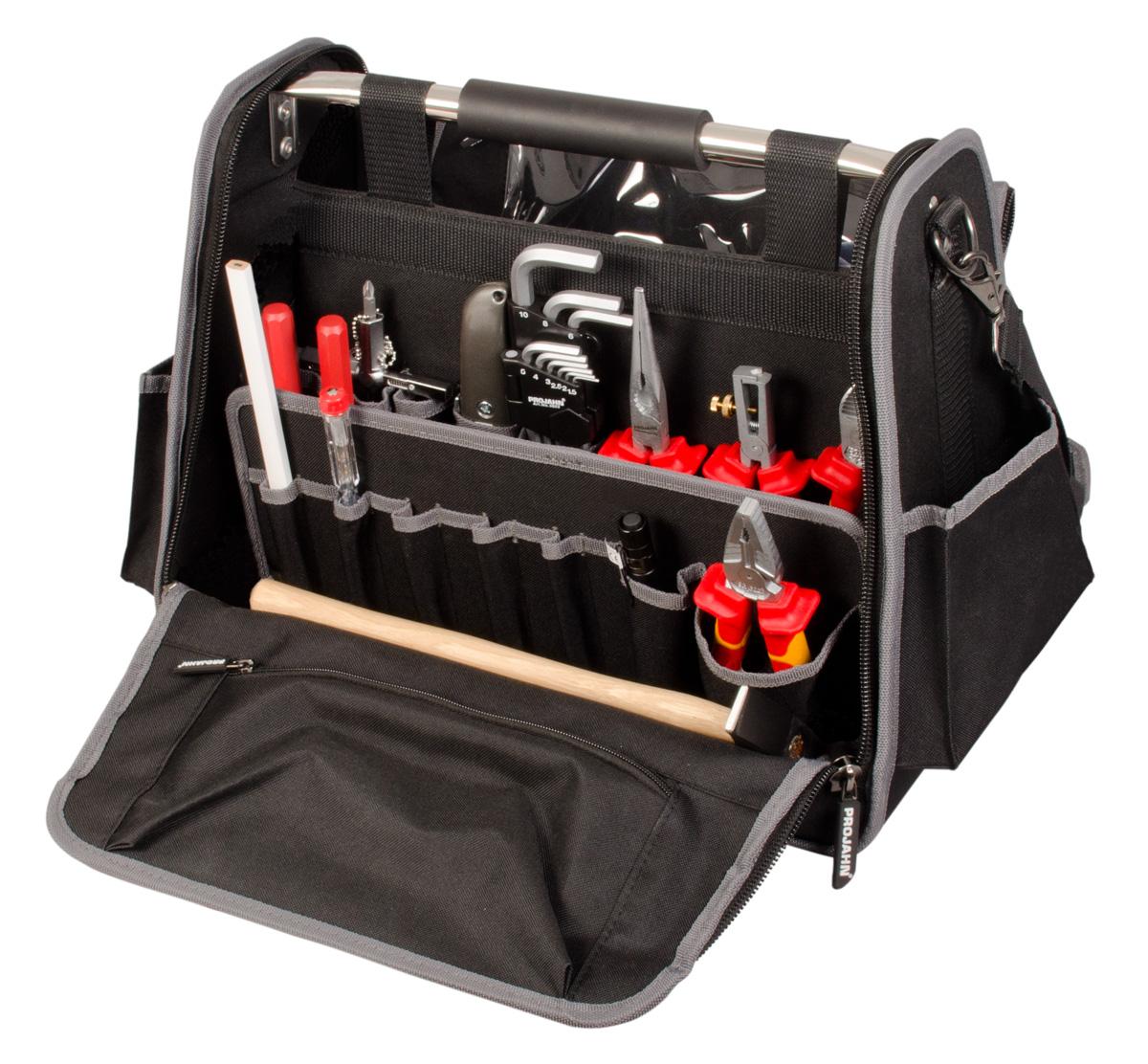 projahn elektro werkzeugtasche 84 tlg. Black Bedroom Furniture Sets. Home Design Ideas